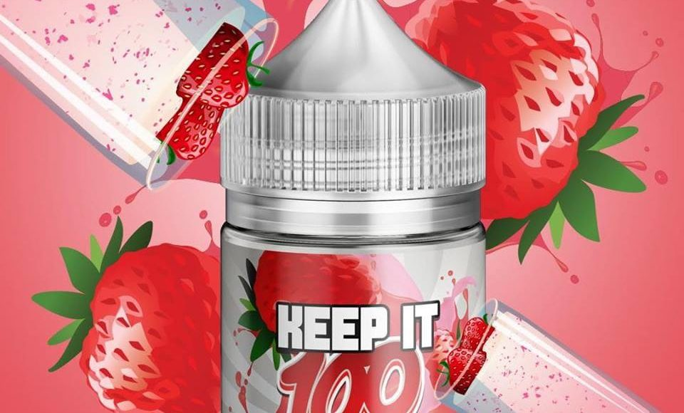 Keep It 100 Strawberry Milk E-juice Review